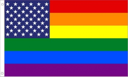 "US Rainbow ""New Glory"" Flag"