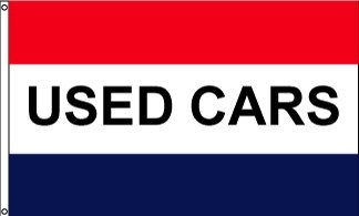 Used Cars Horizontal Message Flag
