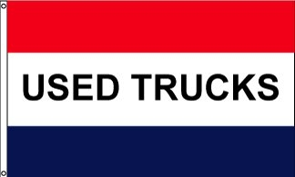 Used Trucks Horizontal Message Flag