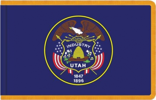 Indoor Utah State Flag, Nylon