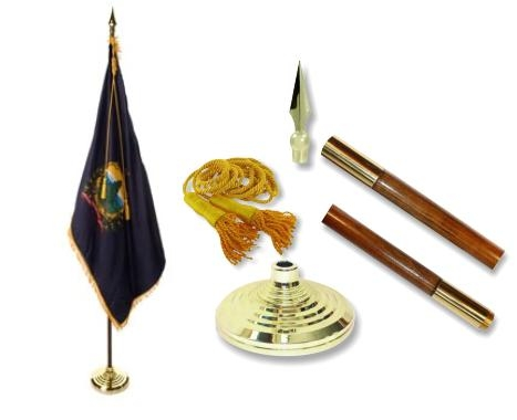 Vermont Indoor State Flag Set
