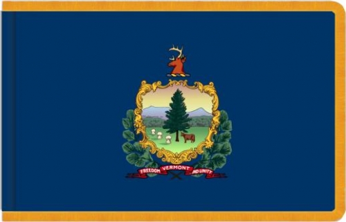 Indoor Vermont State Flag, Nylon