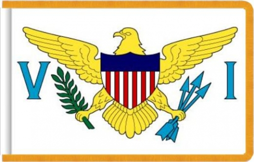 Indoor Virgin Islands Flag, Nylon