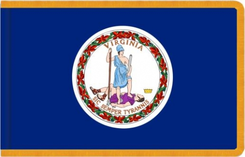 Indoor Virginia State Flag, Nylon