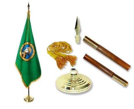 Washington Indoor State Flag Set