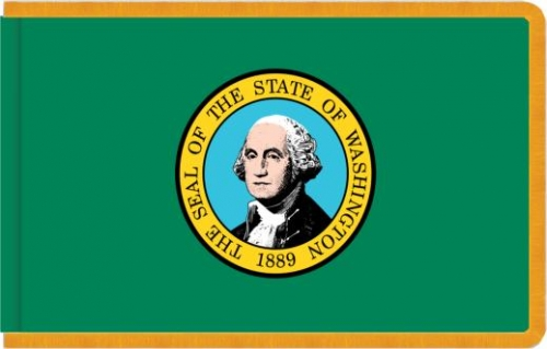 Indoor Washington State Flag, Nylon