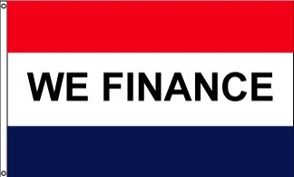 We Finance Horizontal Message Flag