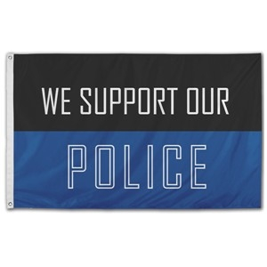 "3' x 5' ""We Support Our Police"" Nylon Flag"