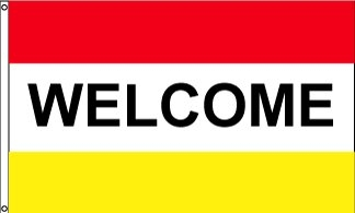 Welcome RWY Horizontal Message Flag