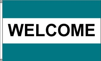 Welcome TWT Horizontal Message Flag