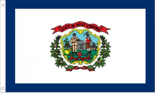 West Virginia Flag, Nylon