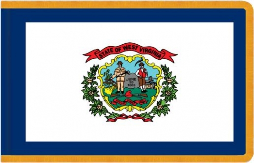 Indoor West Virginia State Flag, Nylon