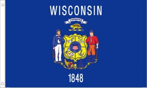Wisconsin State Flag, Nylon