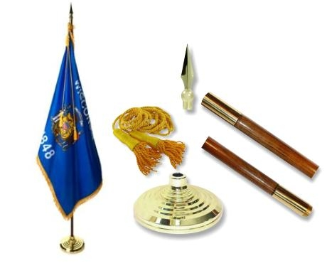 Wisconsin Indoor State Flag Set