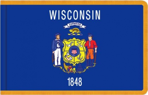 Indoor Wisconsin State Flag, Nylon