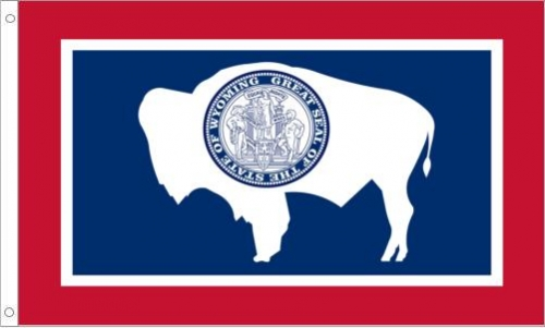 Wyoming Flag, Nylon