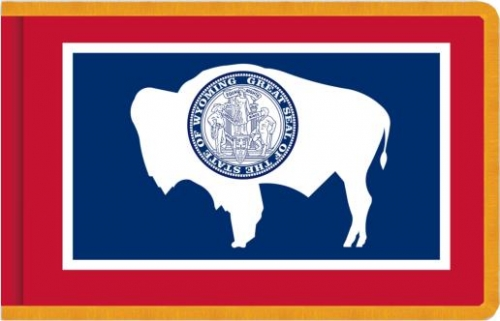 Indoor Wyoming State Flag, Nylon